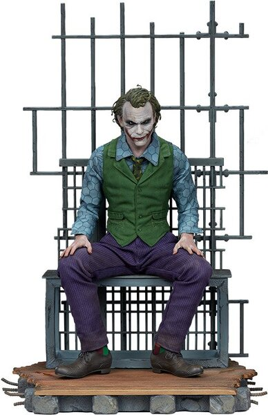 DC Comics Heath Ledger as The Joker in a Jail Cell Premium Format Figure by Sideshow Collectible