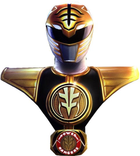 Mighty Morphin Power Rangers: White Ranger Life-Size Bust by PCS