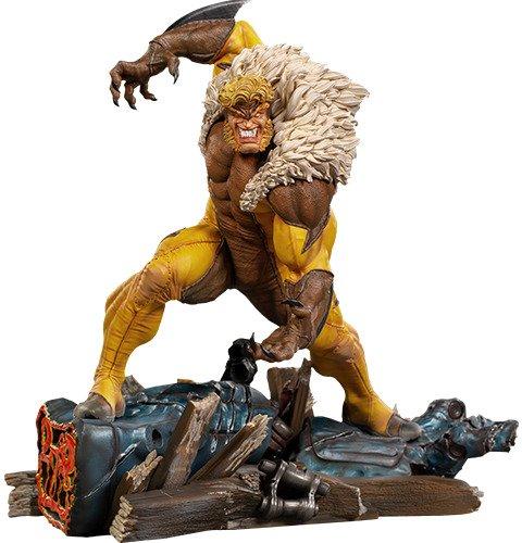 X-Men Sabretooth 1:10 Scale Statue by Iron Studios - Marvel Comics Art Scale Battle Diorama Series