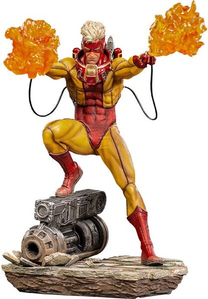 X-Men Pyro 1:10 Scale Statue by Iron Studios - Marvel Comics Battle Diorama Series