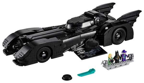 1989 LEGO Batmobile 76139 with Minifigures: Batman, The Joker, Vicki Vale