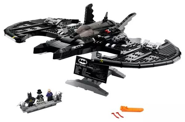 1989 LEGO Batwing 76161 with Minifigures: Batman, The Joker and a Boombox Goon