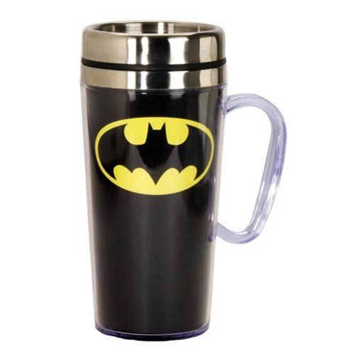 Batman 14 oz. Stainless Steel Travel Mug by Spoontiques