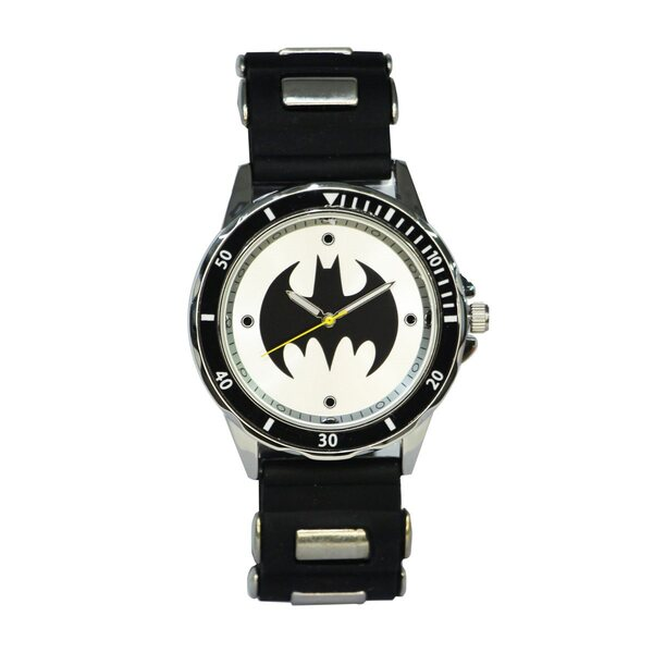 Batman Black Stainles Steel Watch by Accutime