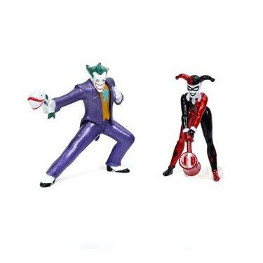 The Animated Series Joker, Harley Quinn 3/4-Inch MetalFigs Diorama Set by Jada Toys