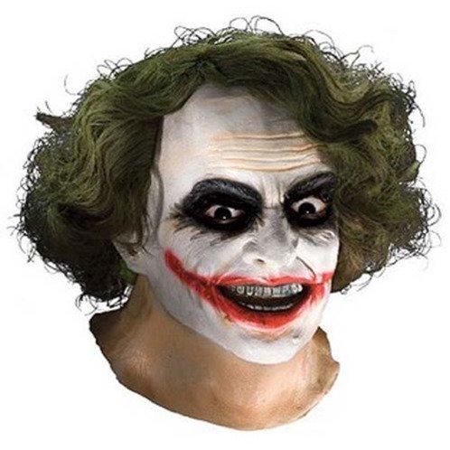 The Joker Full Latex Heath Ledger Mask with Hair by Rubies - Batman The Dark Knight